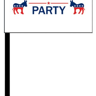 PPF-STICK-DPARTY 4'' x 6'' Democrat Party Digitally Printed Knitted Polyester Stick Flag-0