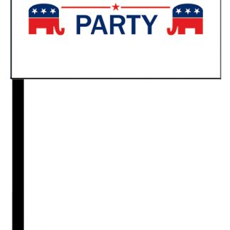 PPF-STICK-RPARTY 4'' x 6'' Republican Party Digitally Printed Knitted Polyester Stick Flag-0