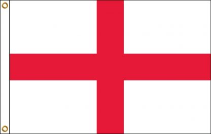 HF-207 England - Cross of St. George 2' x 3' Outdoor Nylon Flag with Heading and Grommets-0
