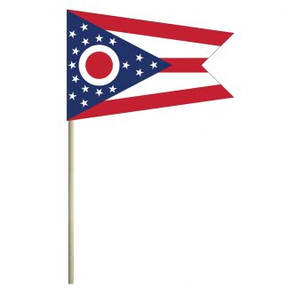 "ECM-46-OHIO Ohio 4"" x 6"" Cotton Stick Flag-0"