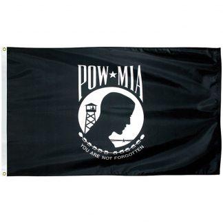 PWS-35-P POW-MIA 3' x 5' Economy Polyester Flag -0