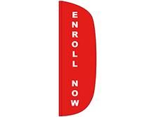 Enroll Now Half Drop Feather Flag