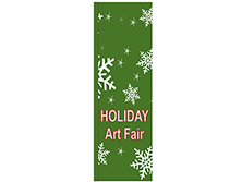 Holiday Art Fair Square Feather Flag