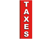 Taxes Square Feather Flags