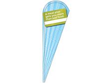 Cafeteria Tear Drop Feather Flag