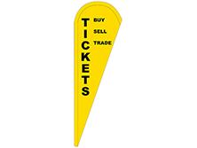 Tickets Tear Drop Feather Flag