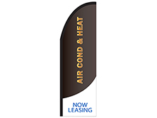 Air Conditioning & Heat Half Drop Feather Flag