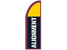 Alignment Half Drop Feather Flag