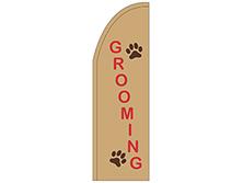 Grooming Half Drop Feather Flag
