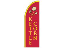 Kettle Corn Half Drop Feather Flag