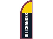Oil Changes Half Drop Feather Flag