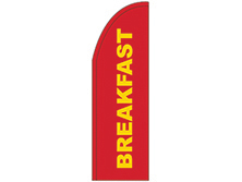 Red Breakfast Half Drop Feather Flag