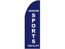Indoor Sports Facility Half Drop Feather Flag