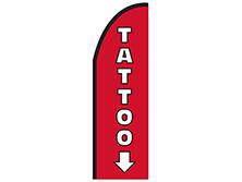 Tattoo Half Drop Feather Flag