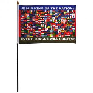 "FNSF-12X18 12"" x 18"" Nations Stick Flag -0"