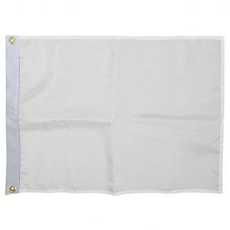 327110-WHITE Nylon Solid Color Golf Flag with Heading and Grommets-White-0