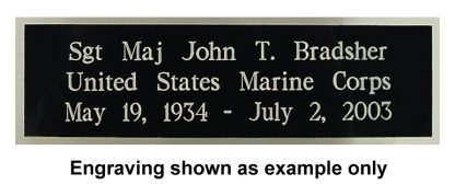 NP101-1 Black Brass Engraving Plate for Flag Cases-42020