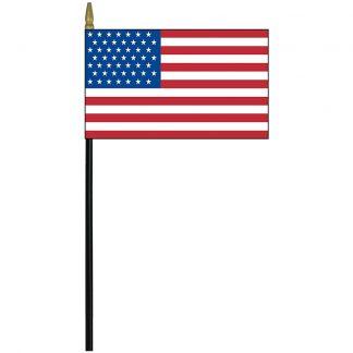 "EOG-463-49 49 Star 4"" x 6"" Mounted Stick Flag (1959-1960)-0"