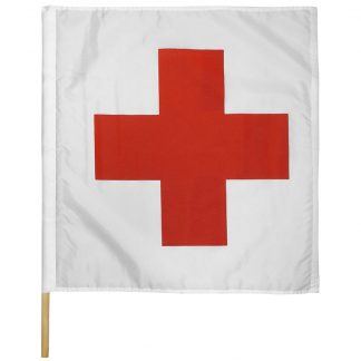 "IRM-335 30"" X 30"" Ambulance on Track Nylon Auto Racing Flag Mounted On Pole-0"