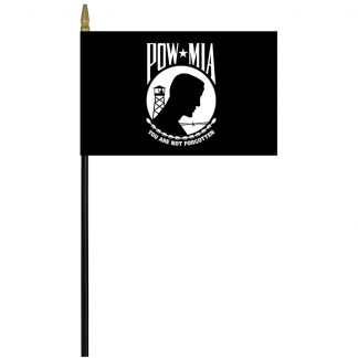 "PWC-46 POW-MIA 4"" x 6"" Cotton Stick Flag-0"