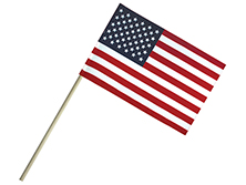 Economy Cotton U.S. Stick Flags Without Spear Top