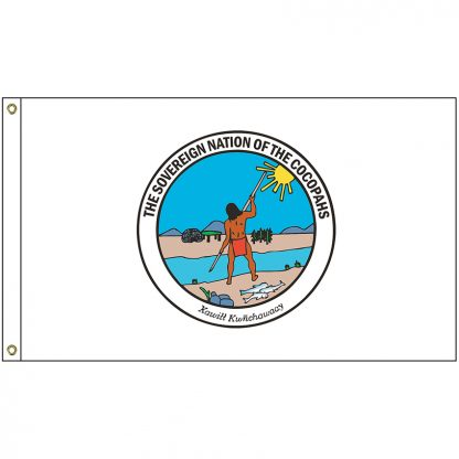 NAT-4x6-COCO 4' x 6' Sovereign Nation of the Cocopahs Flag With Heading and Grommets-0