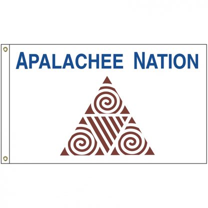 NAT-4x6-APALACHEE 4' x 6' Apalachee Nation Tribe Flag With Heading And Grommets-0