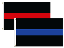 Thin Blue & Red Line Flags