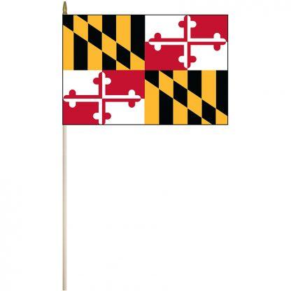 """EPC-1218-MARYLAND Maryland 12"""" x 18"""" Stick Flag-0"""