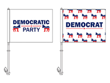 Democrat Party Car Flags