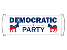 Democrat Party Scroll Banners