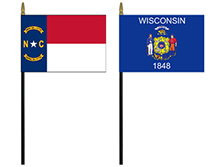 Small State Stick Flags