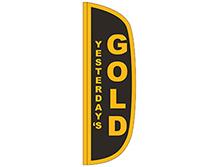 Gold Flutter Feather Flag