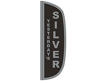 Silver Flutter Feather Flag